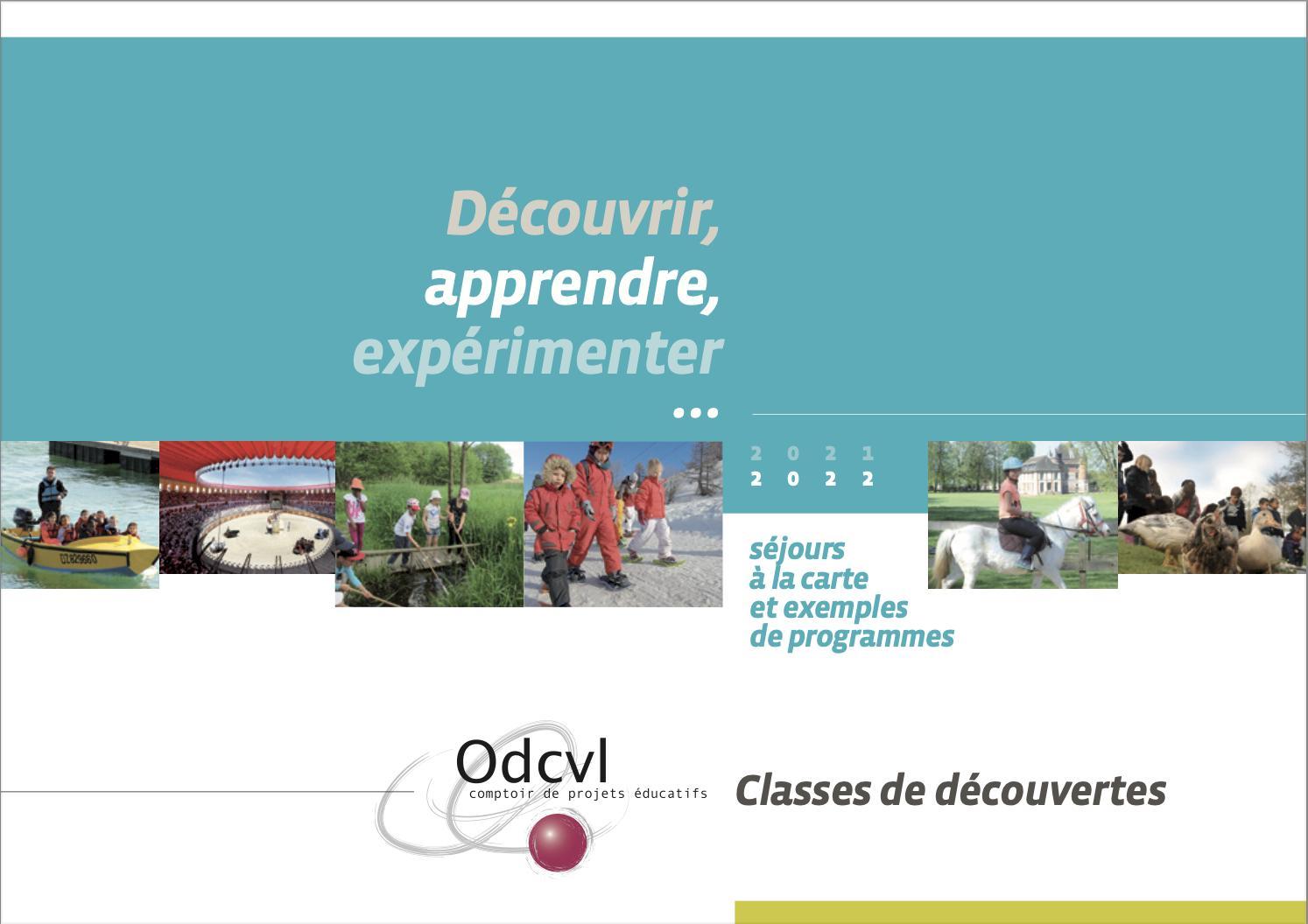 Catalogue Séjours Scolaires Odcvl